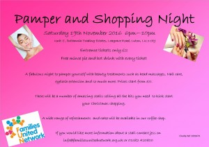 Pamper and Shopping Night @ Families United Network, | Luton | England | United Kingdom