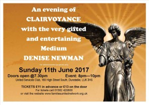 An evening of clairvoyance with Denise Newman @ Dunstable United Services Club | Dunstable | England | United Kingdom