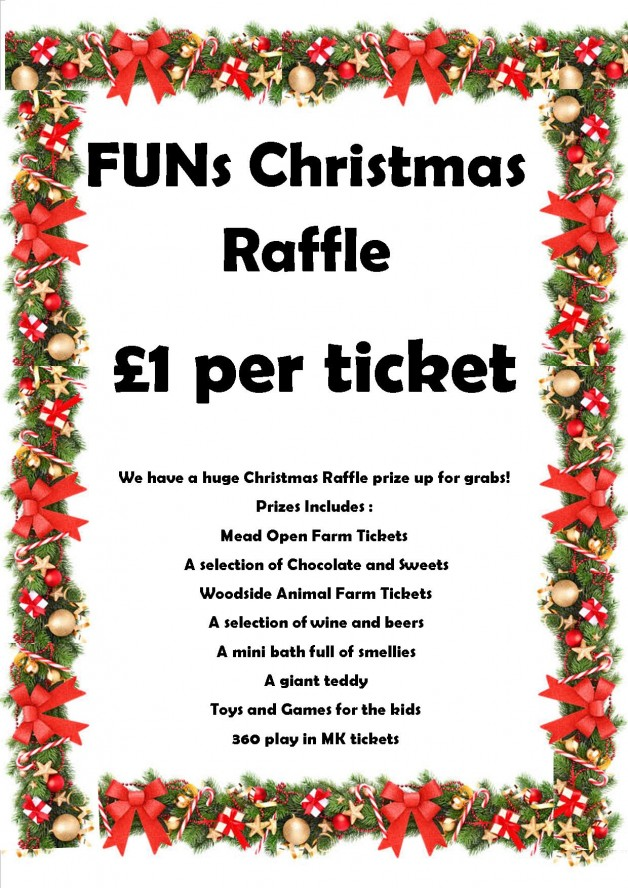 Funs christmas raffle prize draw families united network for Christmas raffle poster templates