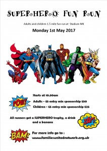 Superheros Family FUN Run @ stadium MK  | Bletchley | England | United Kingdom