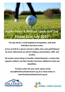 Aspley Guise Golf Day Poster A4