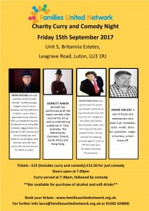 Comedy Night @ Families United Network | England | United Kingdom