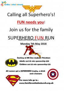 Superhero's Family FUN Run @ MK Dons stadium | Bletchley | United Kingdom