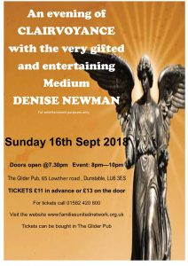 An Evening of Clairvoyance @ The Glider Pub | England | United Kingdom