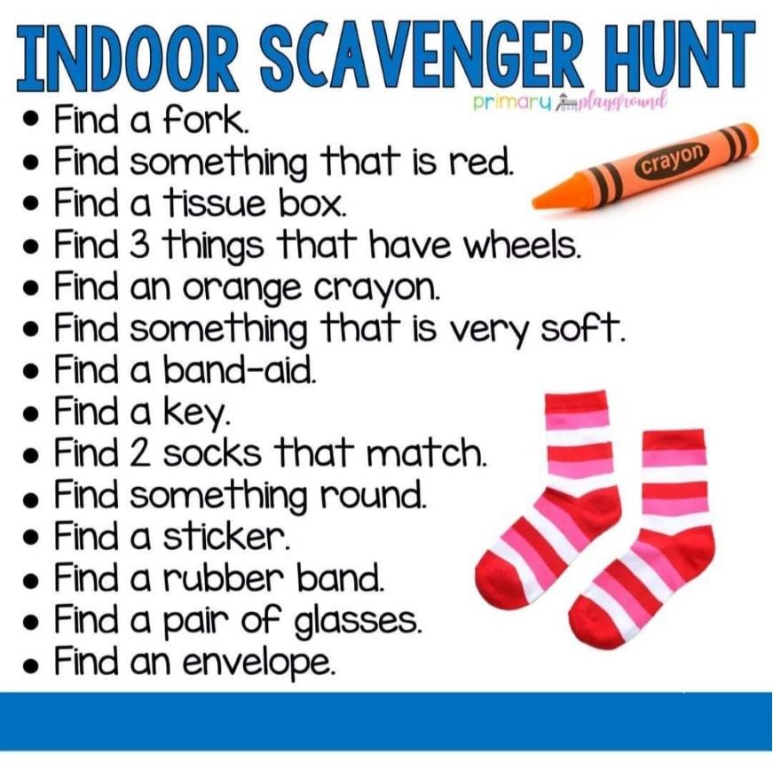 Indoor Scavenger Hunt - Families United Network